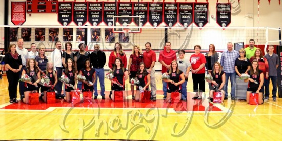 Bellaire Volleyball Senior Recognition
